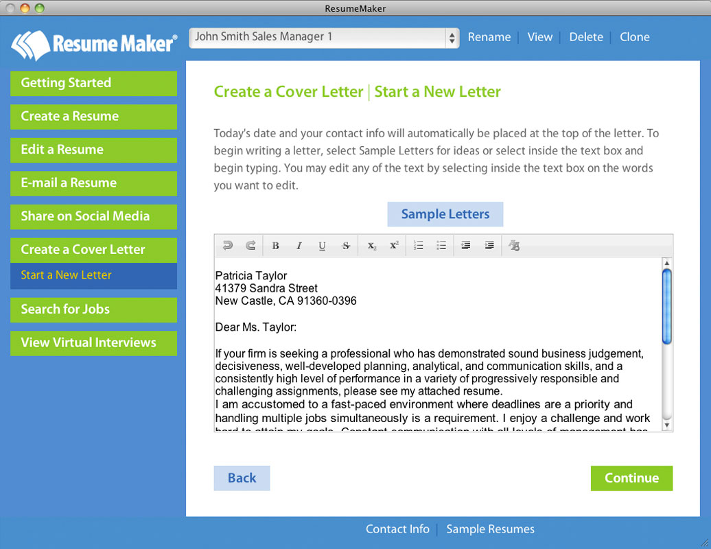 Home resumemaker for mac for I am a fast learner cover letter